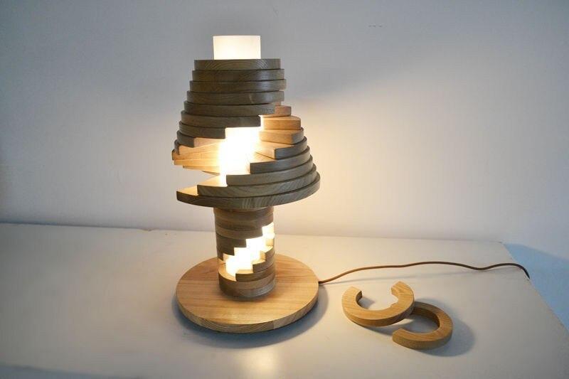 comprar nave libre del ccsme lmparas de mesa especial diseo nico de madera lmparas de escritorio escritorio mesita de luz de estudio