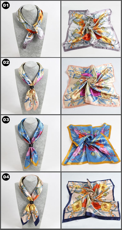 Trés beau foulards imitations soie 60x60 1