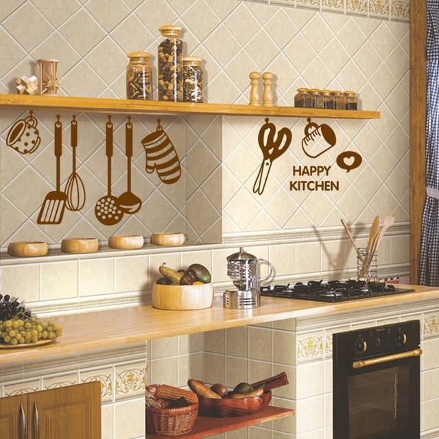 Bricolage brun cuire outil vaisselle bonne cuisine chambre mur art ...