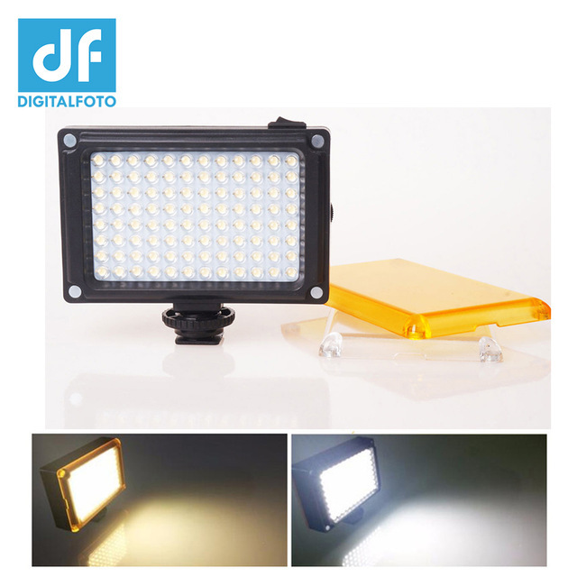 DF DIGITALFOTO Mini 96 LED Light Photo Lighting on Camera Hotshoe Dimmable LED Lamp for Canon Nikon Sony Camcorder DV DSLR