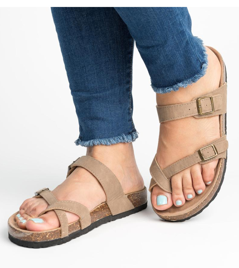 HTB1Hw3aNHrpK1RjSZTEq6AWAVXar Women Sandals Rome Style Summer Sandals For 2019 Flip Flops Plus Size 35-43 Flat Sandals Beach Summer Zapatos Mujer Casual Shoes