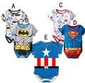 Одежда для маленьких мальчиков и девочек с коротким рукавом и мультяшным героем, новый летний детский комбинезон, комбинезоны для новорожд...