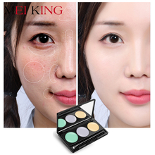 MEIKING 3 Colors Face Concealer Camouflage Cream Contour Palette maquillaje Moisturizing Foundation Cover Pores Face Makeup