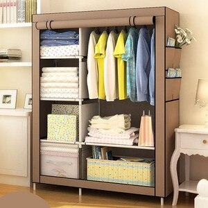Image 3 - Простой модный гардероб Actionclub DIY, нетканый складной портативный шкаф для хранения, многофункциональный пыленепроницаемый влагостойкий шкаф