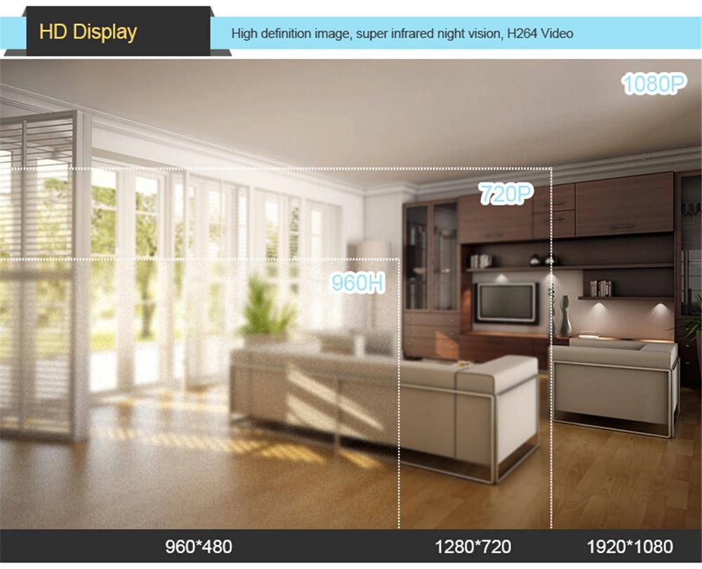 Wistino 1080P 4pcs IP Camera CCTV Security System Kit Night Vision 8CH NVR Recorder Surveillance Monitor Kits H.265 XMeye 720P 960P (19)