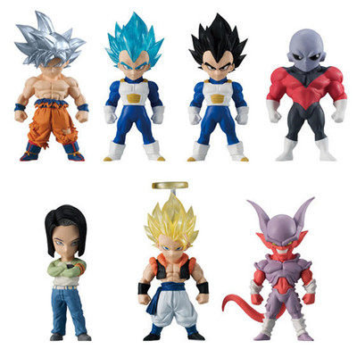 100% Original BANDAI Battle VS Gashapon Toy Figure 7Pcs Adverge 6 Dragon Ball Super Ultra Instinct Goku Jiren From Model цена и фото
