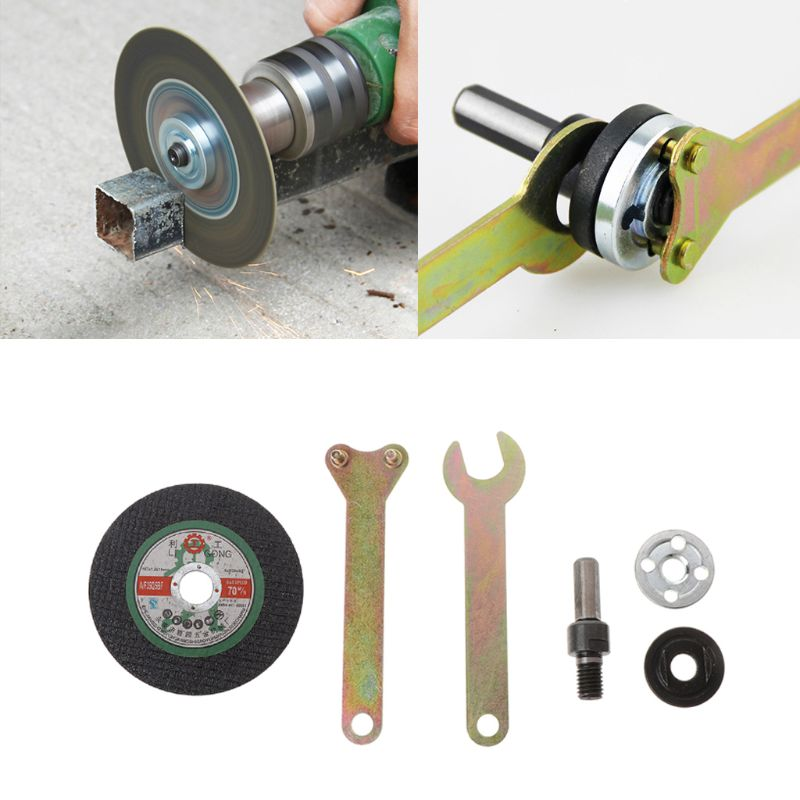 6Pcs/Set Metal Cutting Piece Connecting Rod Wrench Electric Drill Variable Angle Grinder Converter Set