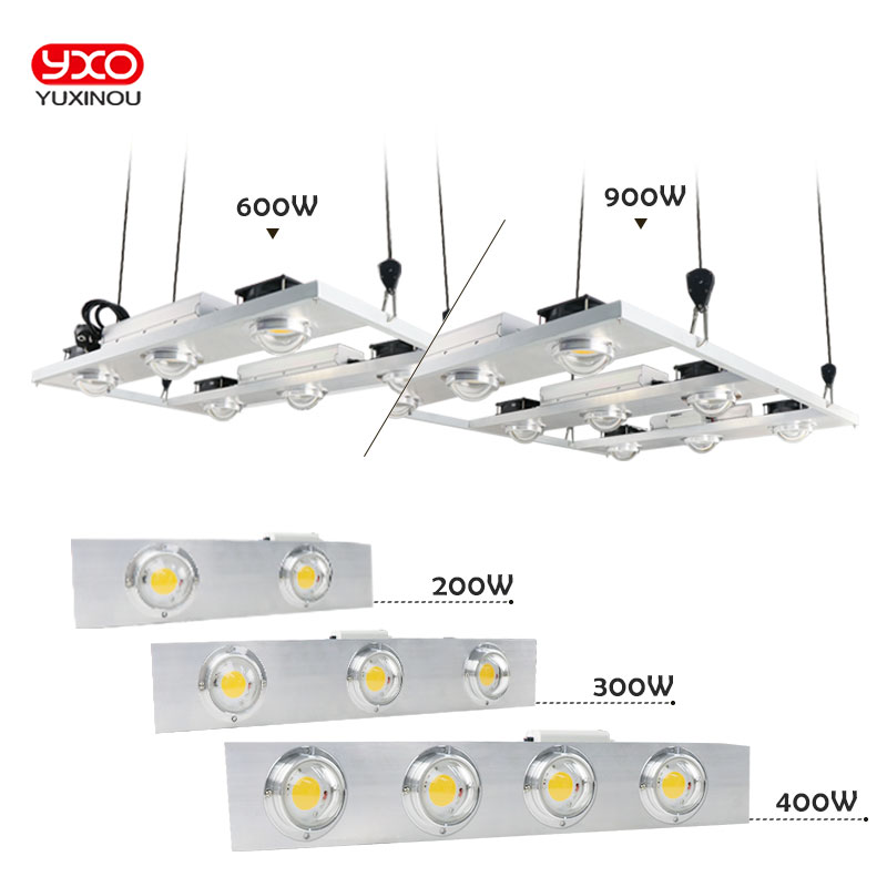 Dimmable COB LED Grow Light Full Spectrum CREE CXB3590 Citizen 1212 200W 300W Growing Lamp Indoor Plant Growth Panel Lighting