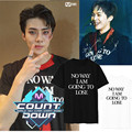 SEHUN KPOP EXO K M Álbum EX'ACT MONSTRO Camiseta K-POP 2016 Clássico Da Moda Roupas de Algodão de Manga Curta Camisetas k pop Tshirts