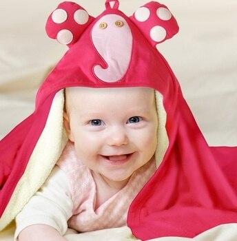 جديد الأزياء مقنعين الحيوان النمذجة برنس أطفال/الكرتون الطفل منشفة/الطابع الاطفال روب استحمام/الرضع فوط استحمام