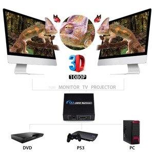 Image 2 - AIXXCO HDCP 4k rozdzielacz HDMI Full HD wideo 1080p przełącznik HDMI przełącznik 1X2 1X4 podzielić 1 w 2 na zewnątrz wzmacniacz wyświetlacz do telewizora HDTV DVD