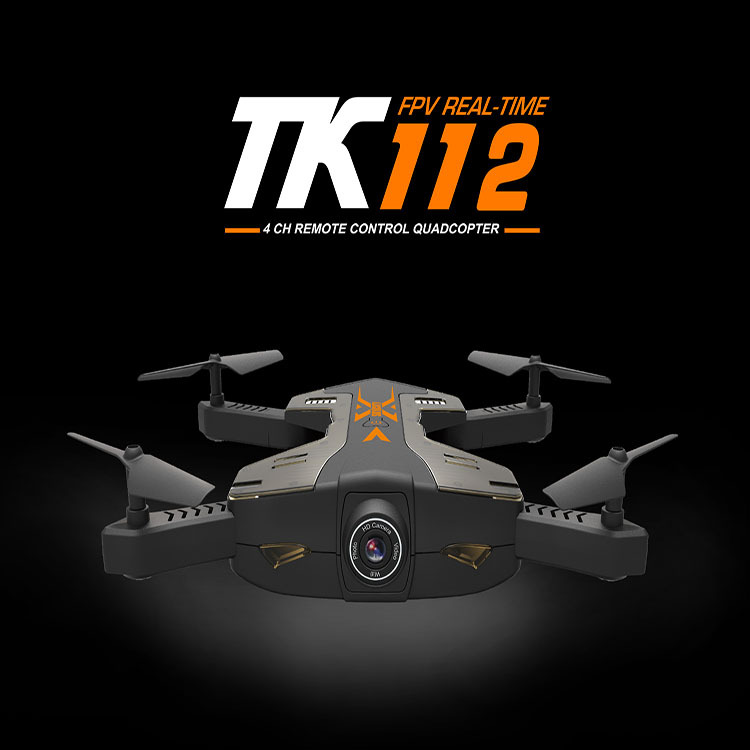 New shape foldable Wifi FPV Real time RC Drone TK112W 720P wide angle camera Altitude Height selfile RC quadcopter vs X8SW X5UW newest apple shape foldable wifi fpv rc drone rc130 2 4g apple quadcopter with 6axis gryo with 720p wifi hd camera rc drones