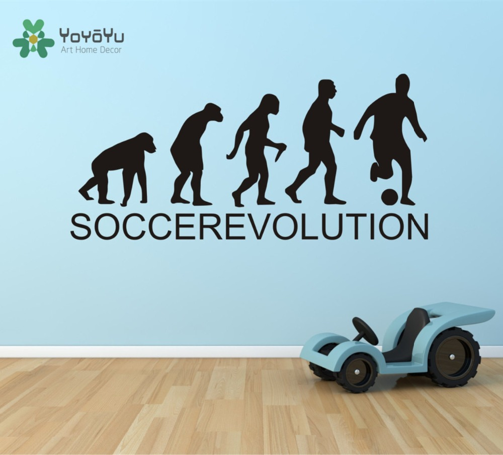 Home evolutions ny - Soccer Evolution Wall Decal Sports Evolution Soccer Decal Sticker Home Decor Office Decoration Kids Boys Bedroom Mural Ny 28