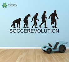 SOCCER EVOLUTION Wall Decal Sports Evolution Soccer Decal/Sticker Home Decor Office Decoration Kids Boys bedroom Mural NY-28 цена