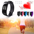 1 PC Sports Smart Bracelet Heart Rate Wristband Watch Pedometer Fitness Tracking 1pc For Men Women