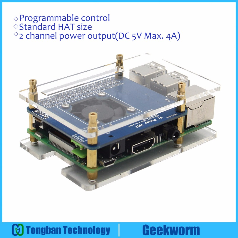 Raspberry Pi 3 Model B Programmable Smart Temperature Control Fan Wiring Diagram Power Expansion Board Acrylic Case Copper Heatsink Kits In Demo From Computer