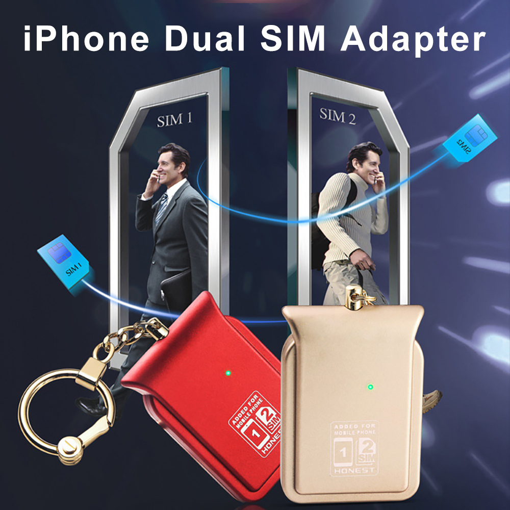Dual Sim Dual Standby Adapter No Jailbreak IOS 12 Call Text Functions For IPhone5/6/7/8/X/XS Max / I Pod Touch 6th/i Pad