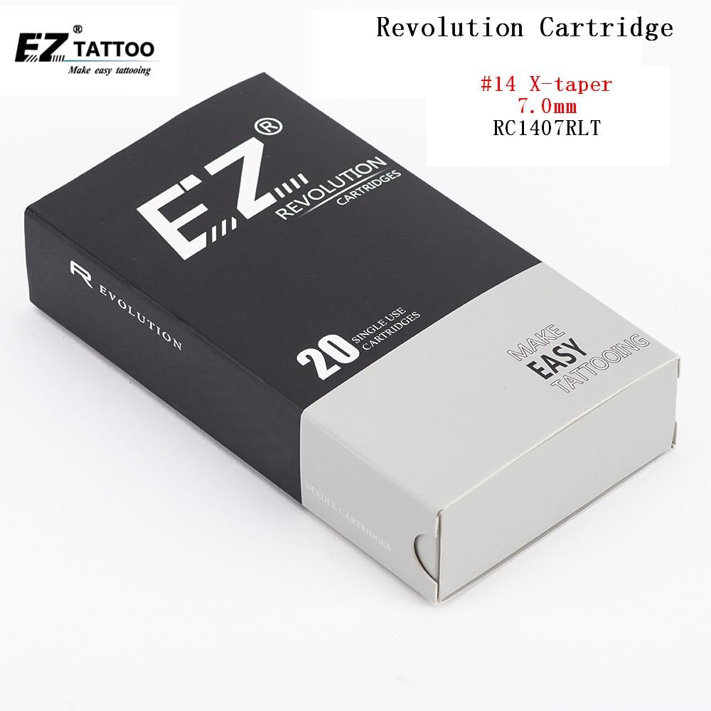 Rc1407rlt ez revolution cartucho agulha redonda forro agulhas #14 super apertado x-atarraxamento 7.0mm sistemas de cartucho compatíveis 20 pces