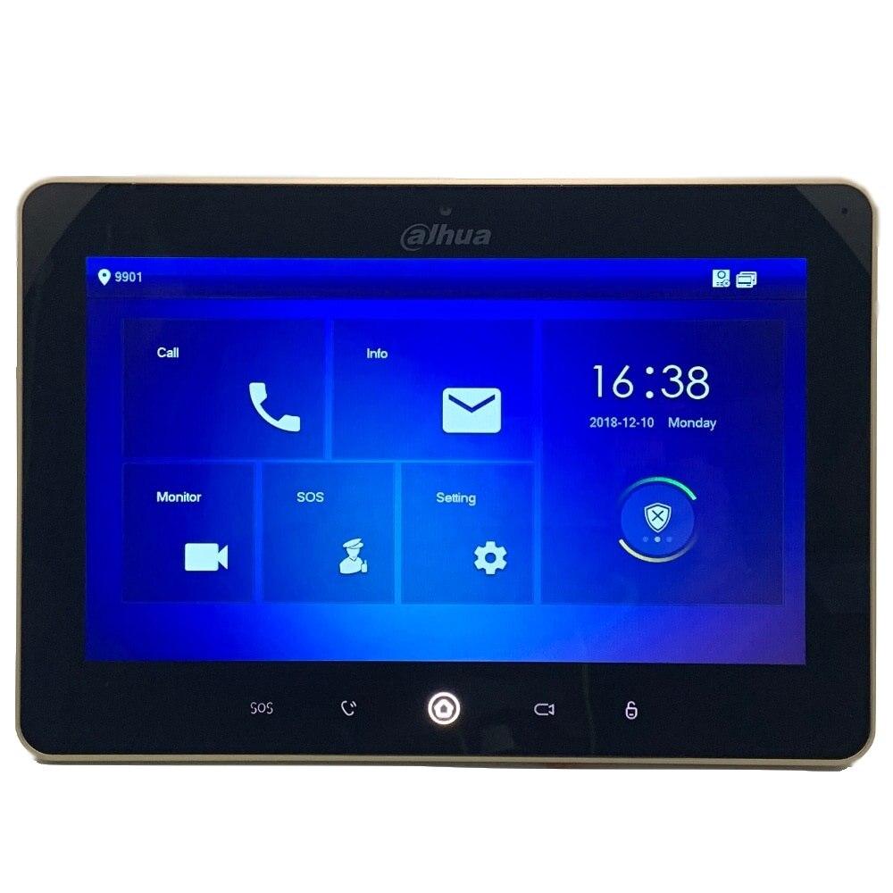 Ahua Multi-Idioma VTH5241D-CW 10 polegada tela de toque vídeo porteiro Color Monitor Interno, 1MP câmera, WI-FI connect