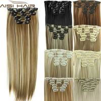 Synthetic hair with clips 16 clip in hair extensions false hair hairpieces synthetic 23 long straight.jpg 200x200