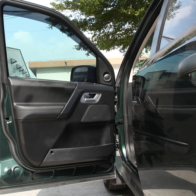 4pcs matte chrome glossy black interior inside door handle frame