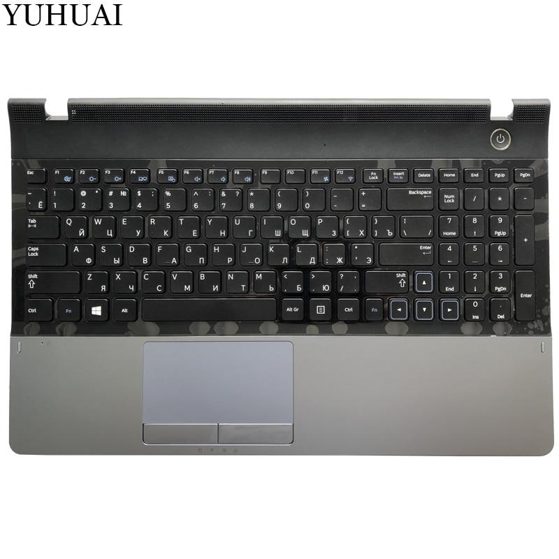 Nouveau pour samsung NP300E5A NP305E5C NP300e5x NP305E5A 300E5A 300E5C 300E5Z russe RU clavier d'ordinateur portable avec étui Palmrest Touchpad