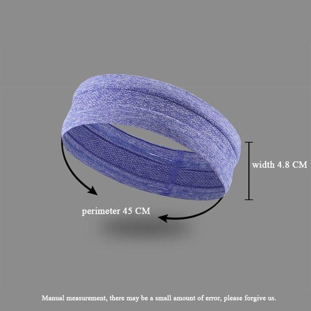 Unisex Yoga Sweatband Silicone Antiskid Sweat Headband Men Sports Headscarf Women Jogging Hair Belt Headsize Fits 50-62cm N311 1