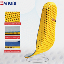 3ANGNI 1 Pair Orthotic Shoes Accessories Insoles Orthopedic Memory Foam Sport Arch Support Insert Woman Men Feet For Running