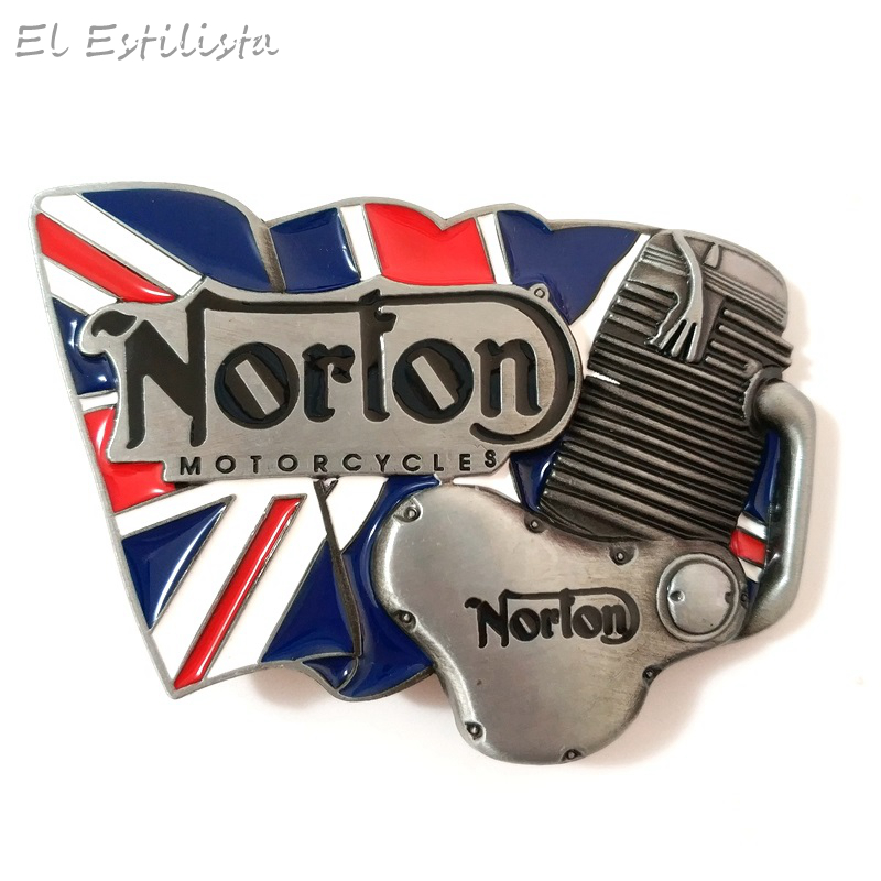 Mens Brand Motorcycle Engine Belt Buckle Men Punk Style Metal Rock Biker Belt Buckles Fashion National Flag Jeans Accessories