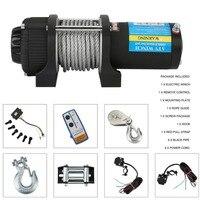 Электрическая лебедка нагрузка до 4000lbs автомобили внедорожные подъемная лебедка с пультом дистанционного управления авто подъемный слинг