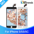 50PCS/LOT Grade A++  lcd screen for iPhone 5 5S 5C LCD Screen Touch Digitizer Cold Press Frame Assembly free Shipping by DHL