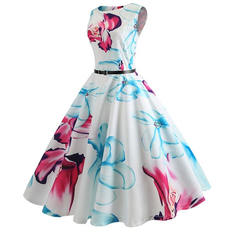 Blue Vintage Swing Dress 26