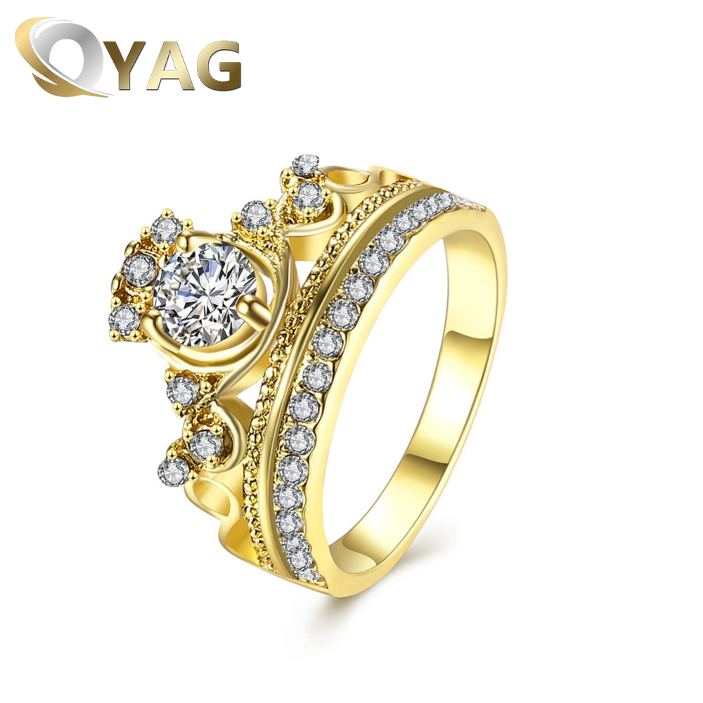 INALIS Hot Sale Fashion Imperial Gold Crown With Crystal Jewelry ...