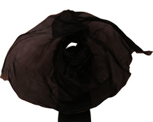 2016 high quality cheap dance veils women's sexy 100% silk belly dance veil wholesale  black