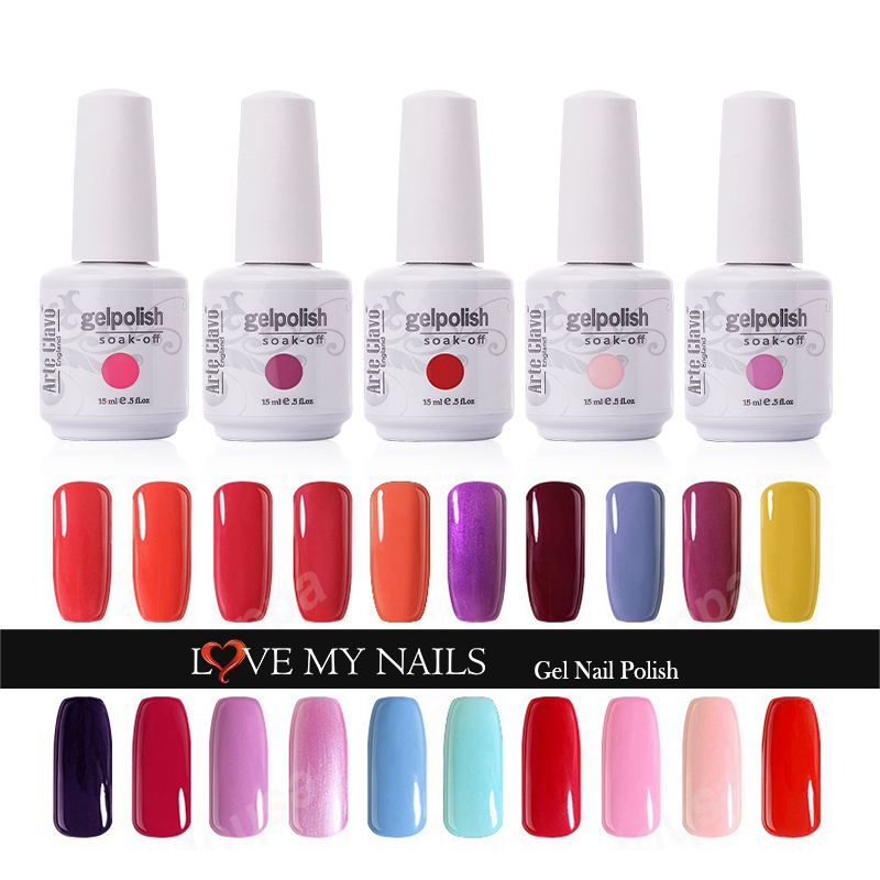 Fashional Disesuaikan 220 Warna Arte Clavo Mana-mana satu UV Gel Kuku Lacquer Rendam Off Nail Gel Poland Led UV Lamp