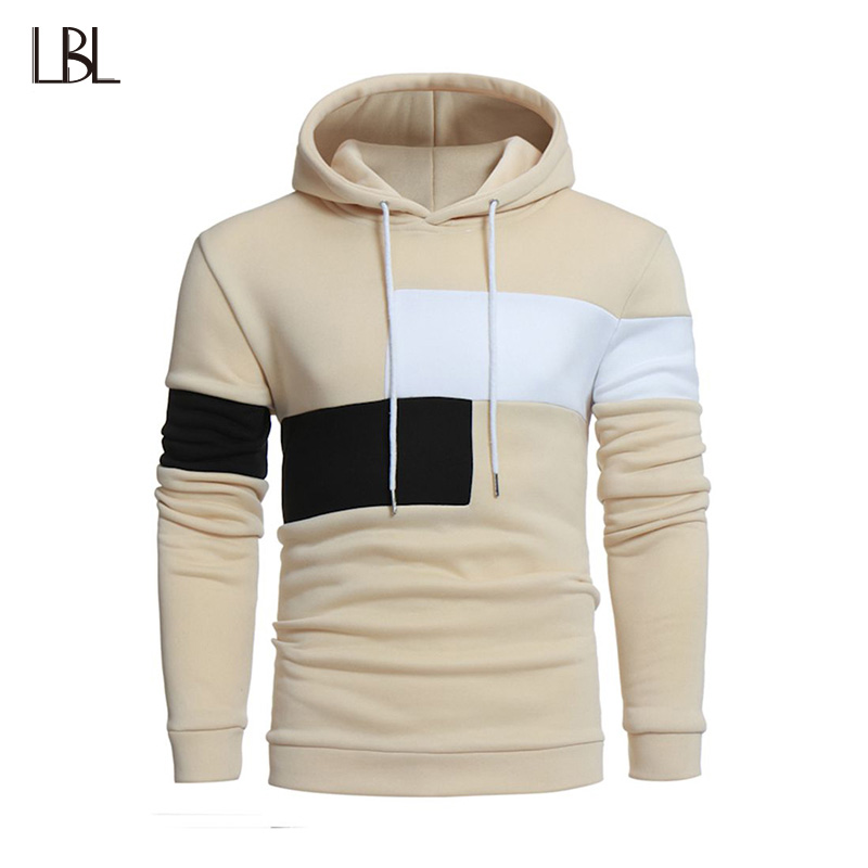 Casual Mens Hooded Sweatshirt Long Sleeve Hoodies Men Autumn Mans Sportswear Tracksuits Male Moletom White Black Beige Hoodie