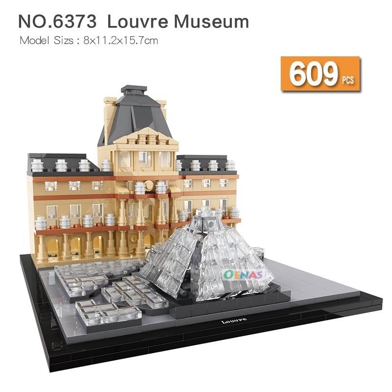 Famous Building Landmark Big Ben Lincoln Memorial Louvre Museum Building Blocks Construction Brick Children toys Christmas gift цена 2017