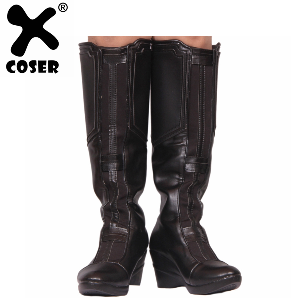 XCOSER Avengers Infinity War Black Widow Boots Hot Movie Cosplay Shoes For Female Adult