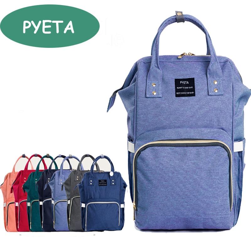 Pyeta Мода мумия Средства ухода за кожей для будущих мам подгузник сумка бренда большой Ёмкость маленьких сумка рюкзак дизайнерские уход мешо...