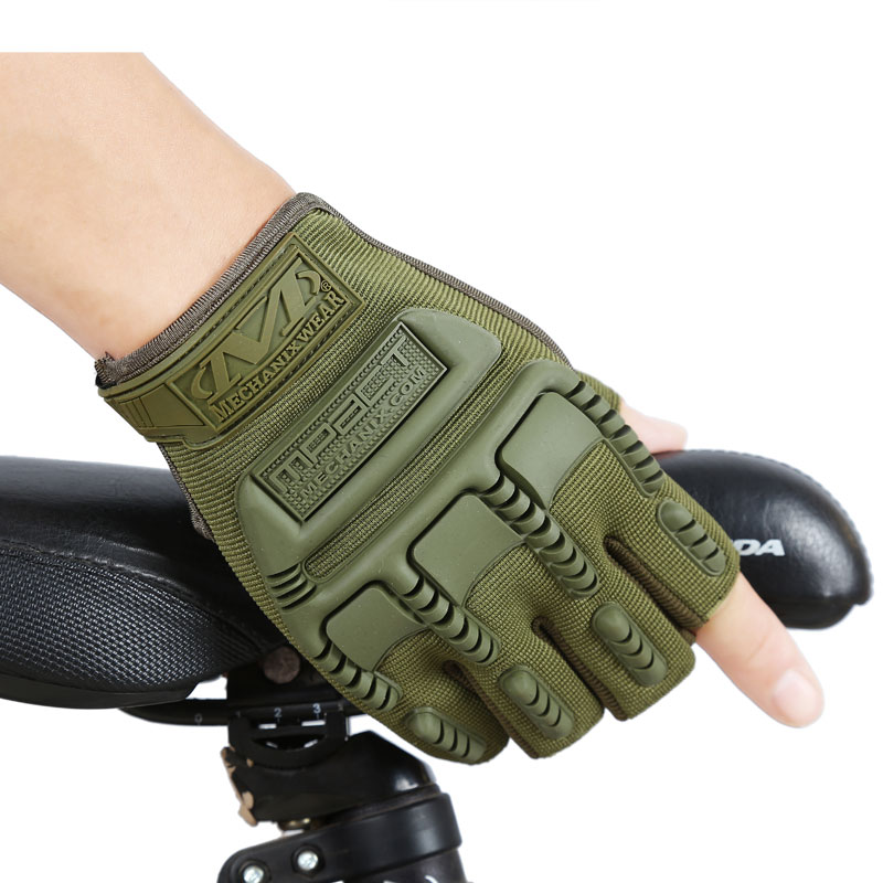 Fitness gloves, thin, spring, summer, outdoor sports fitness riding army fans fighting semi finger gloves