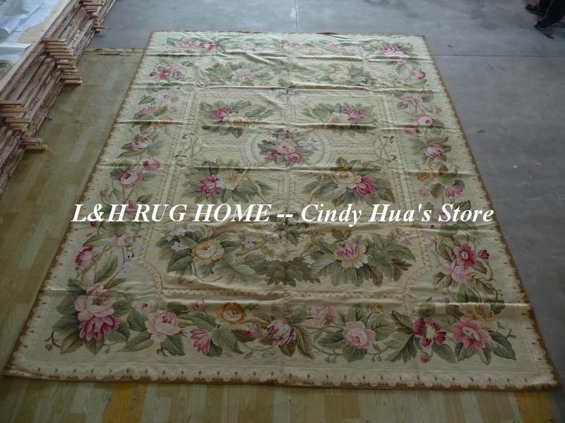 Livraison gratuite tapis en laine à l'aiguille faits à la main, tapis faits à la main de haute qualité 9'x12' pour la décoration de la maison