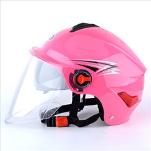 Rosa cor Capacete Da Motocicleta Retro Verão Meia Capacetes de Moto Moto Moto Scooter Capacete Da Motocicleta tamanho livre