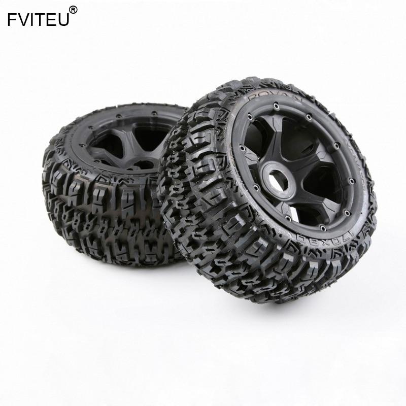 FVITEU Complete Rubber Rear Wheel Tire kits for 1 5 HPI BAJA 5B Rovan King Motor
