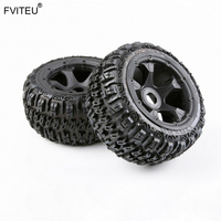 FVITEU Complete Rubber Rear Wheel Tire kits for 1/5 HPI BAJA 5B Rovan King Motor