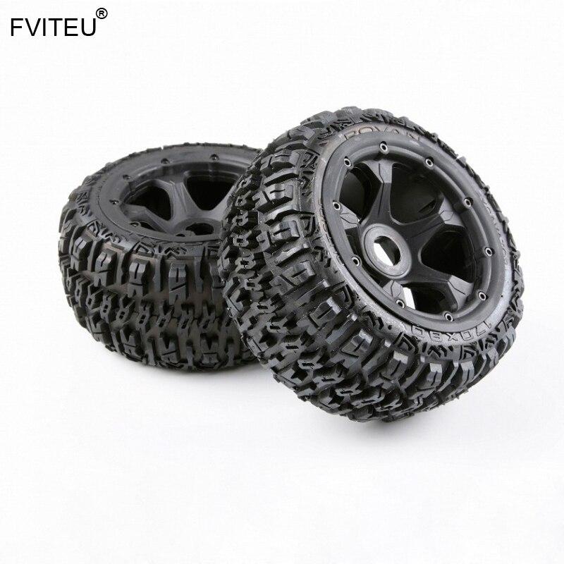 Kits complets de pneus de roue arrière en caoutchouc FVITEU pour moteur 1/5 HPI BAJA 5B Rovan King