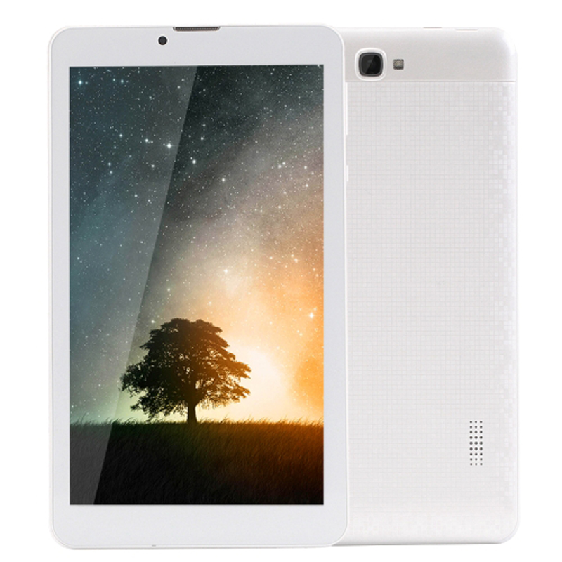 7.0 inch Tablet PC Android 5.1 Bluetooth Wi-fi 3G Call Mobile Phone 8GB Quad Core 1.3GHz RAM: 1GB Dual SIM(White) huawei p6s quad core android 4 2 wcdma bar phone w 4 7 screen wi fi ram 2gb and rom16gb white