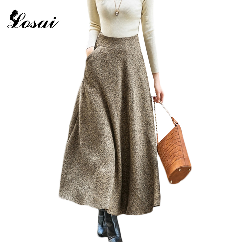 aliexpress buy autumn winter wool skirts for