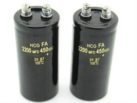 The Free Shipping Aluminum Electrolytic Capacitor 450V 2200uf 450V 50 105mm 105C 450VDC 2200MFD 450VDC 2pcs