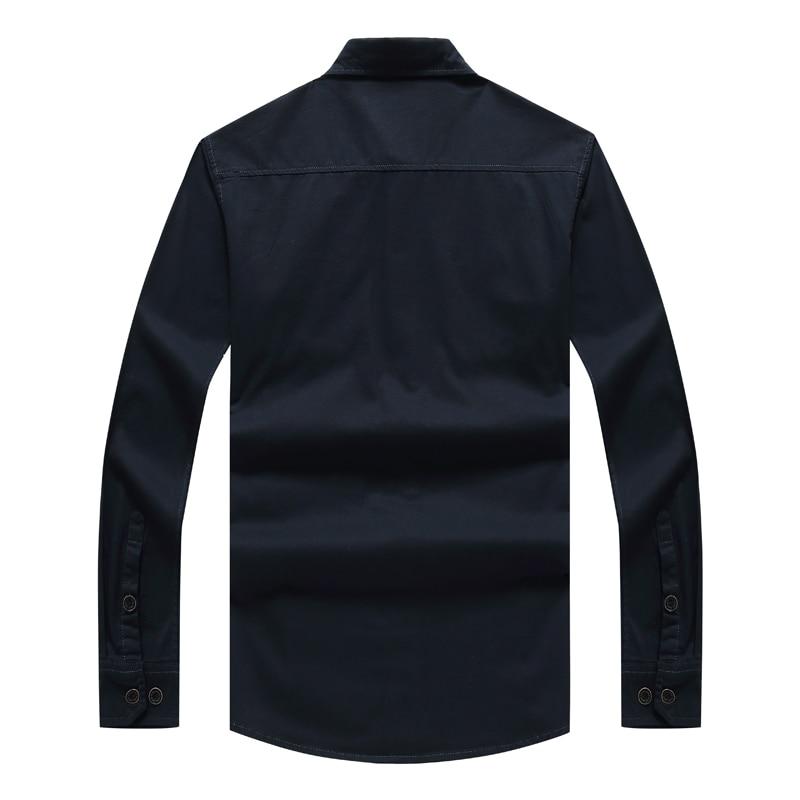 Senlin Jeep Brand Clothing Men Military Spring Autumn Long Sleeve Shirts Mens Fashion Slim Fit Shirt Male Cotton Plus Size XXXXL