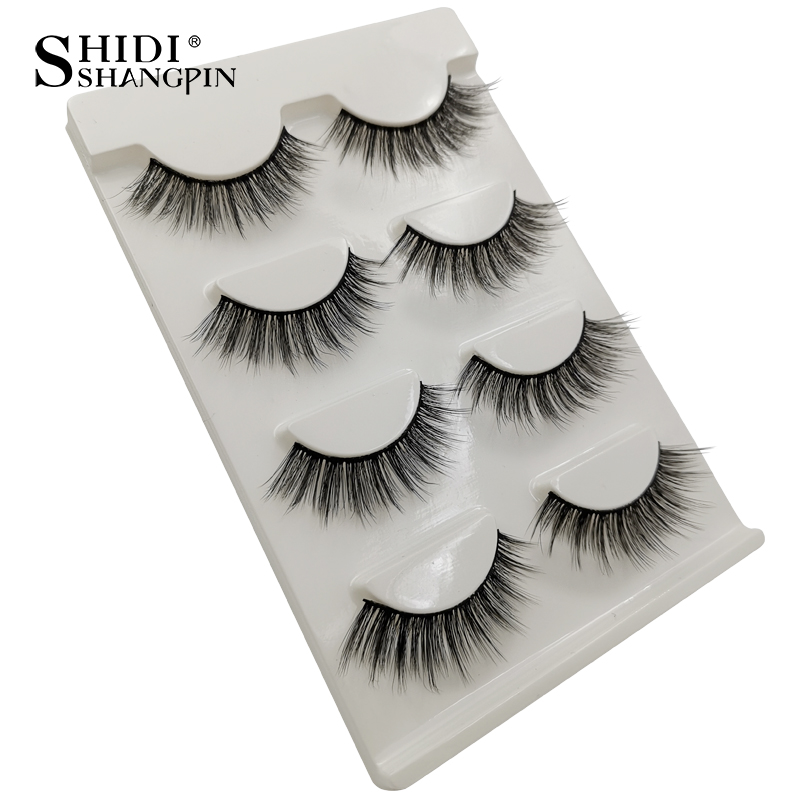 HTB1Hw7paITxK1Rjy0Fgq6yovpXat Natrual long 3D Mink False Eyelashes wholesale 4 pairs Fluffy Make up Full Strip Lashes 3D Mink Lashes faux cils Soft Maquiagem